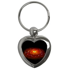 Space Galaxy Black Sun Key Chains (heart)