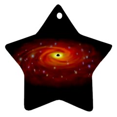 Space Galaxy Black Sun Star Ornament (two Sides)