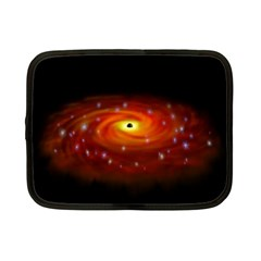 Space Galaxy Black Sun Netbook Case (small)