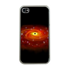 Space Galaxy Black Sun Apple Iphone 4 Case (clear)