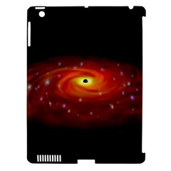 Space Galaxy Black Sun Apple Ipad 3/4 Hardshell Case (compatible With Smart Cover)