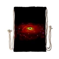 Space Galaxy Black Sun Drawstring Bag (small)