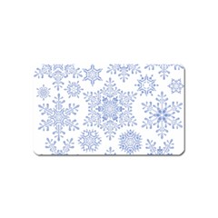 Snowflakes Blue White Cool Magnet (name Card)