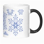 Snowflakes Blue White Cool Morph Mugs Right