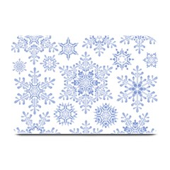 Snowflakes Blue White Cool Plate Mats