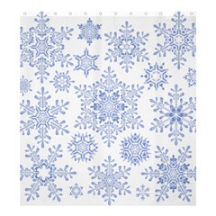 Snowflakes Blue White Cool Shower Curtain 66  X 72  (large)