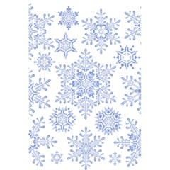 Snowflakes Blue White Cool 5 5  X 8 5  Notebooks