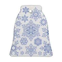 Snowflakes Blue White Cool Ornament (bell)
