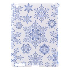 Snowflakes Blue White Cool Apple Ipad 3/4 Hardshell Case (compatible With Smart Cover)