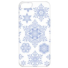Snowflakes Blue White Cool Apple Iphone 5 Classic Hardshell Case