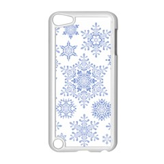 Snowflakes Blue White Cool Apple Ipod Touch 5 Case (white)