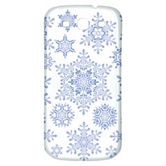 Snowflakes Blue White Cool Samsung Galaxy S3 S Iii Classic Hardshell Back Case