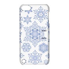 Snowflakes Blue White Cool Apple Ipod Touch 5 Hardshell Case With Stand