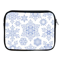 Snowflakes Blue White Cool Apple Ipad 2/3/4 Zipper Cases