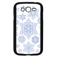 Snowflakes Blue White Cool Samsung Galaxy Grand Duos I9082 Case (black)