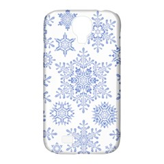 Snowflakes Blue White Cool Samsung Galaxy S4 Classic Hardshell Case (pc+silicone)