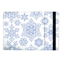 Snowflakes Blue White Cool Samsung Galaxy Tab Pro 10 1  Flip Case