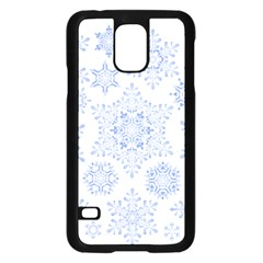 Snowflakes Blue White Cool Samsung Galaxy S5 Case (black)