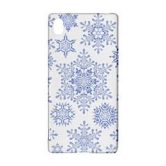 Snowflakes Blue White Cool Sony Xperia Z3+