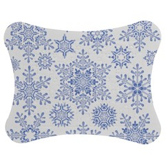 Snowflakes Blue White Cool Jigsaw Puzzle Photo Stand (bow)