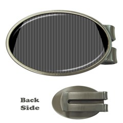 Space Line Grey Black Money Clips (oval)
