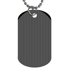 Space Line Grey Black Dog Tag (two Sides)
