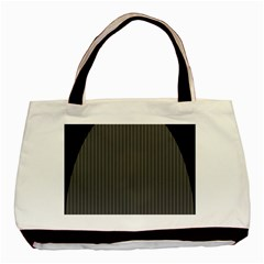 Space Line Grey Black Basic Tote Bag (two Sides)