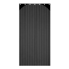 Space Line Grey Black Shower Curtain 36  X 72  (stall)