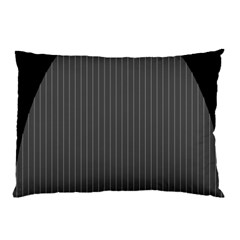 Space Line Grey Black Pillow Case (two Sides)