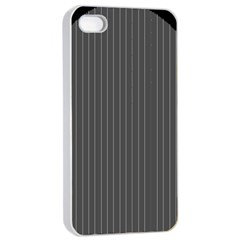 Space Line Grey Black Apple Iphone 4/4s Seamless Case (white)