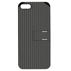 Space Line Grey Black Apple Iphone 5 Hardshell Case With Stand