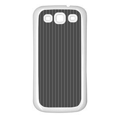 Space Line Grey Black Samsung Galaxy S3 Back Case (white)