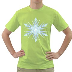 Snowflakes Star Blue Triangle Green T Shirt