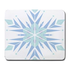 Snowflakes Star Blue Triangle Large Mousepads
