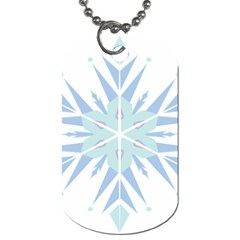 Snowflakes Star Blue Triangle Dog Tag (two Sides)