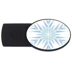 Snowflakes Star Blue Triangle Usb Flash Drive Oval (4 Gb)