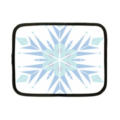 Snowflakes Star Blue Triangle Netbook Case (small)