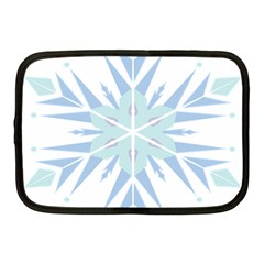 Snowflakes Star Blue Triangle Netbook Case (medium)