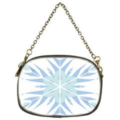 Snowflakes Star Blue Triangle Chain Purses (one Side)