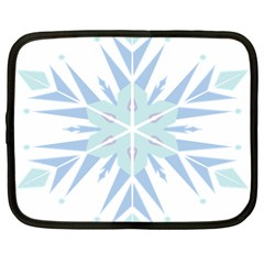 Snowflakes Star Blue Triangle Netbook Case (xl)