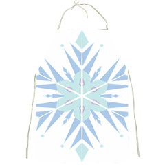 Snowflakes Star Blue Triangle Full Print Aprons
