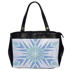 Snowflakes Star Blue Triangle Office Handbags