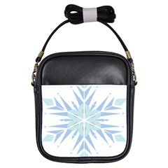 Snowflakes Star Blue Triangle Girls Sling Bags