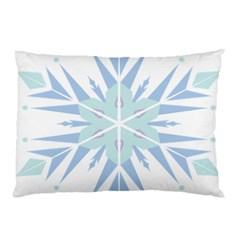 Snowflakes Star Blue Triangle Pillow Case (two Sides)