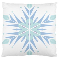 Snowflakes Star Blue Triangle Large Cushion Case (two Sides)