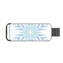 Snowflakes Star Blue Triangle Portable Usb Flash (two Sides)