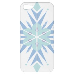 Snowflakes Star Blue Triangle Apple Iphone 5 Hardshell Case