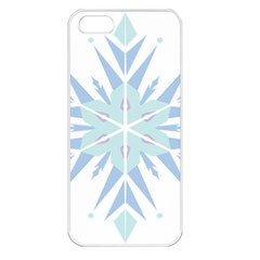 Snowflakes Star Blue Triangle Apple Iphone 5 Seamless Case (white)
