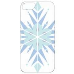 Snowflakes Star Blue Triangle Apple Iphone 5 Classic Hardshell Case