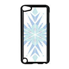 Snowflakes Star Blue Triangle Apple Ipod Touch 5 Case (black)